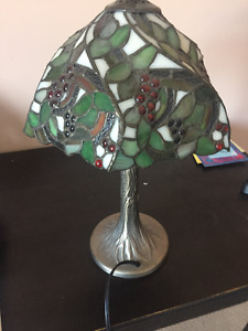 Rare Tiffany Style Stained Glass Lamp