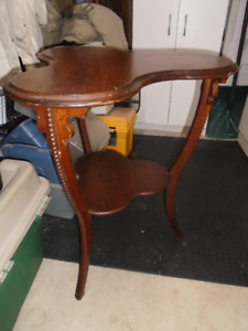 Rare Antique Clover Shaped Side Table