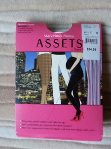 """Maternity Tights (Black)  """"Marvelous Mama Assets"""""""