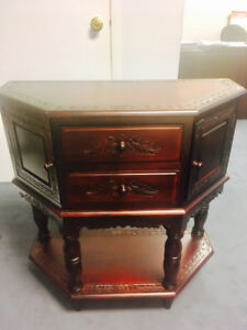 Antique Dark Cherry Wood Console/Entry Table