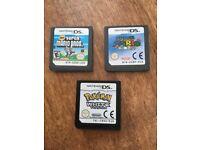 Super Mario Bros / Super Mario ds / Pokemon White version games fir nintendo ds