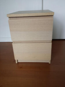 IKEA- MALM 2 drawer chest (night stand) like new