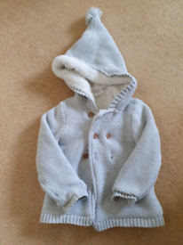 12 to 18 months Knitted wool jacket with fluffy inside