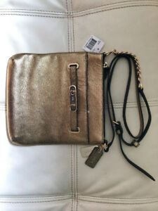 Brand New COACH leather cross-body purse with tags