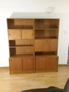 Gorgeous teak wall unit.