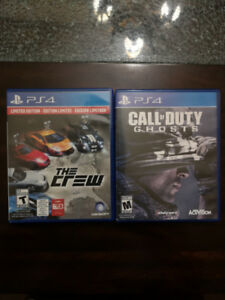 The Crew (PS4) & Call of Duty: Ghosts (PS4) in Perfect Condition