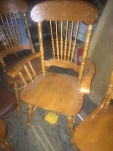 $60!! Antique solid wood chairs