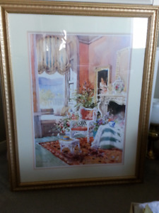 Marilyn Simandle  ... Sunfilled Chintz framed print.