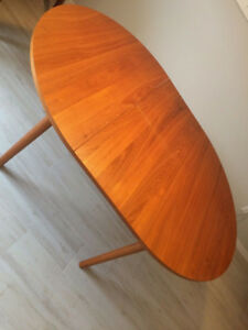Original 1960's Scandinavian Teak Dining Table
