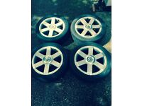Peugeot 307 Alloy wheels with 4 good tyers