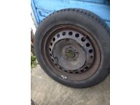 Michelin 205/55/16 91V tyre (Mondeo rim)