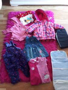 Lot 10$ : vêtements-accessoires fille 6-12 mois