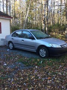 2005 Honda Civic for parts or repair