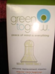 Replacement Nipple for Green to Grow Bottles NEW