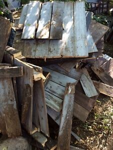 Fence boards for fire wood