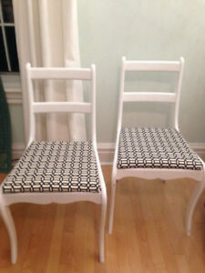 Solid wood chairs (2)