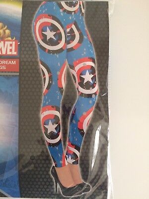 Leggings Marvel Comics Captain America Shield Logo One Size Adult Women](Captain America Shield Adult)