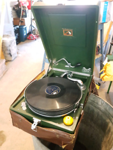 His masters voice record player