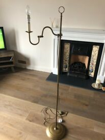 Vintage gold floor lamp