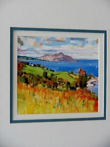 Cadre Holy Isle, John Cunningham peintre The Holy Isle painting
