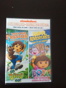 Dora  two in one DVD ( Wolf Pup rescue w/ Diego & Animals)