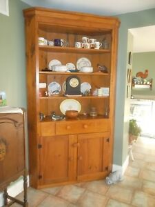 ANTIQUE PINE CORNER CABINET