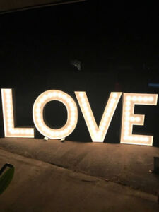 4' LOVE Marquee Letters available for rent! 20% discount avail.