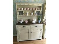 Welsh Dresser painted in Annie Sloan Old Cream and waxed **reduced price**