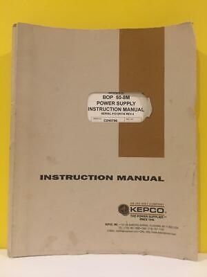 Kepco 243-0715 Bipolar Operational Power Supplies Bop 50-8m Instruction Manual