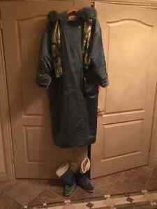 Linda Lundstrom Coat and Boots