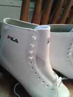 BRAND NEW FILA WOMEN'S SIZE 6 FIGURE SKATES LEATHER BOOTS!! NEW!