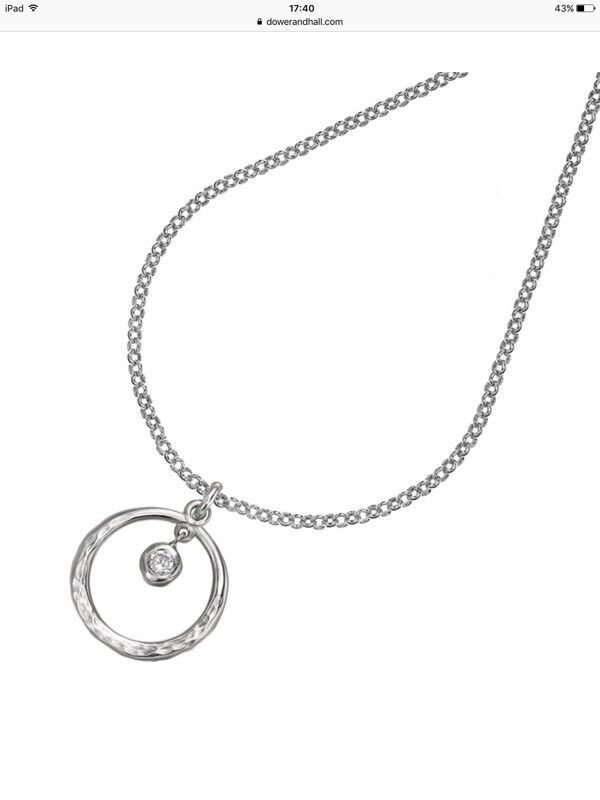 DOWER & HALL STERLING SILVER PENDANT