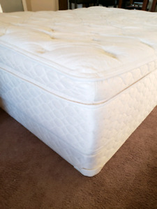 Like Brand New Queen pillow top mattress with box spring