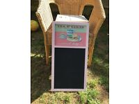 Shabby chic chalk kitchen board