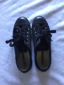 Women's All Star Converse! All Black Shoes
