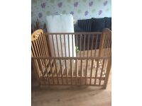 Solid wood cot