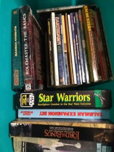 Box of vintage Role Playing Games