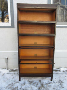 Antique (c1900) FIVE Sections Original Stacking Bookcase