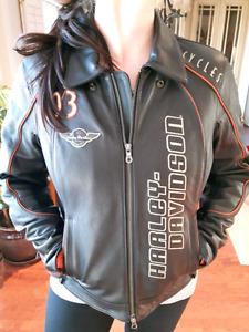 Lady's Harley Davidson Leather Jacket - Large