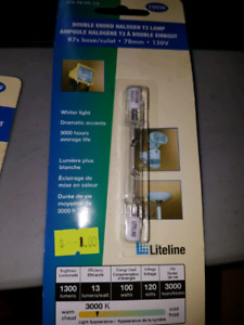 Double ended halogen t3 lamp bulb