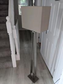 Dimmable floor standing lamp - nickel