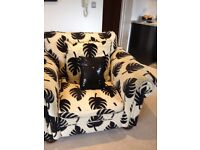 Matching 3 seater couch, pouffe and chair for sale - DFS