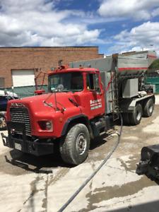 1988 Mack DM 690S Concrete Mixer Truck
