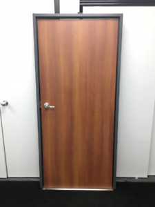 9 wood doors with Frames $75.00 Each
