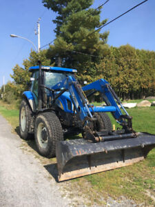 Tracteur New Holland T6020 avec souffleur + gratte fixe
