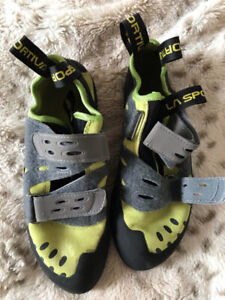 Men's Rock Climbing Harness and Shoes