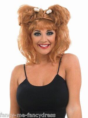l Woman Bone Wig Bam Bam Fancy Dress Costume Outfit Wig (Bam Bam Kostüme)