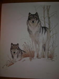 LIMITED EDITION - Intruders (wolves) - Wpg artist