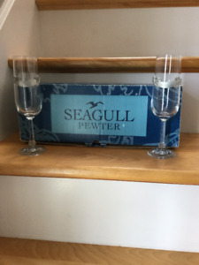 Seagull Pewter wine glasses