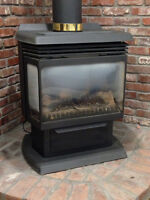 Vermont Castings gas stove.